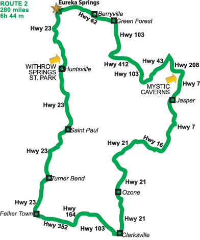 Pig Trail Ride U2013 Top 10 Route In The U.S.Eureka Springs Motorcycle Rides | Eureka Springs ...