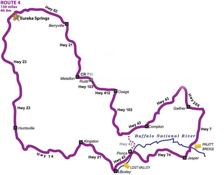 The Pig Trail Arkansas Map.Ride Maps Eureka Springs Motorcycle Rides