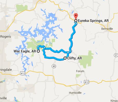 Ride Maps Eureka Springs Motorcycle Rides